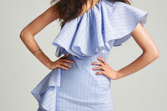 ONE by Viva Aviva Takeo Pinstripe Dress